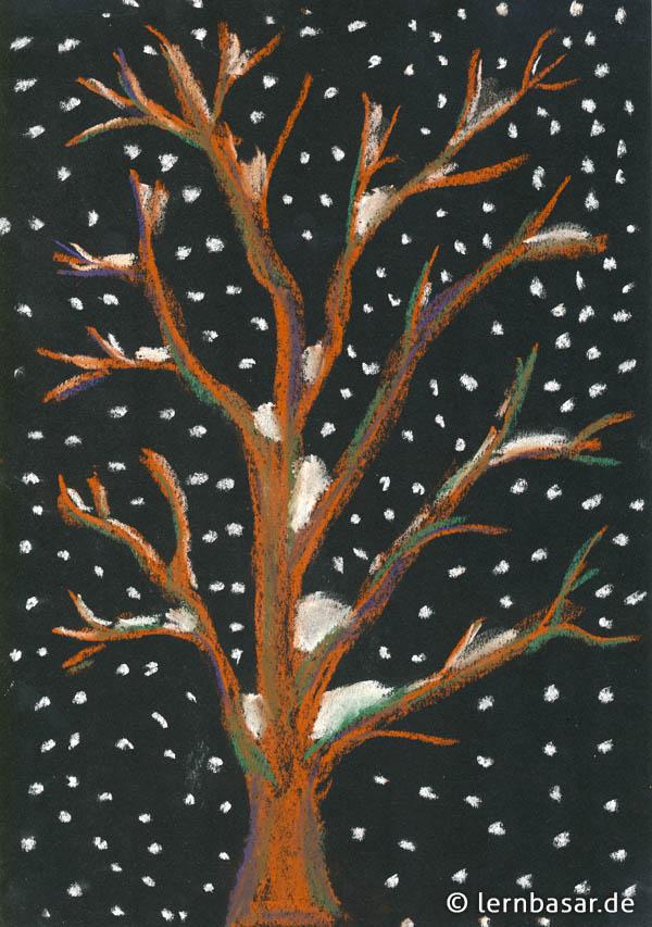 Baum Im Schneetreiben Startpunkt De