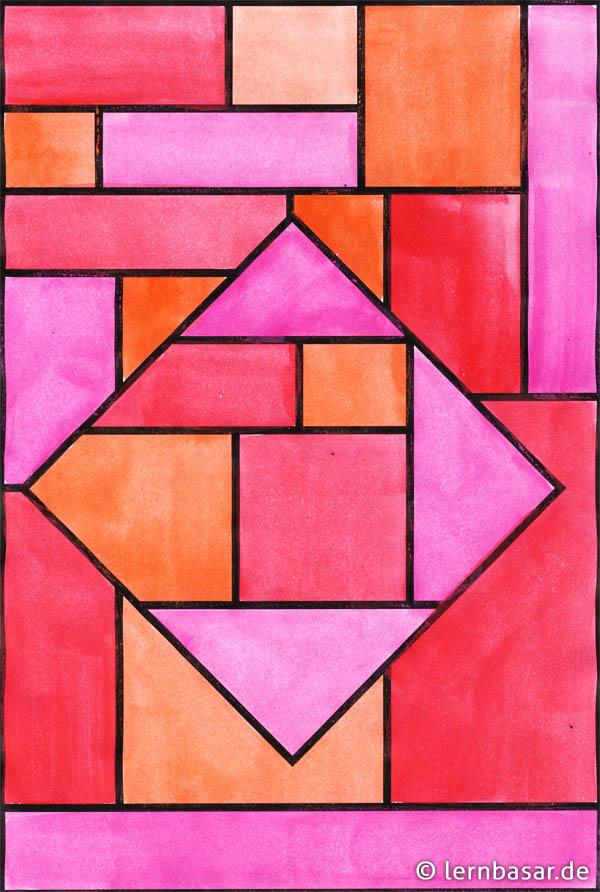 geometrische formen ton in ton  tolle idee für ihren