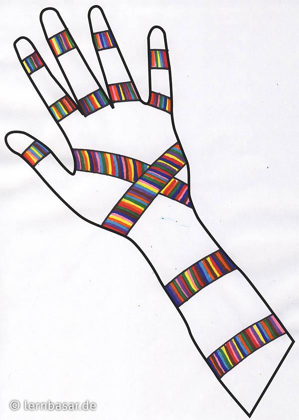 Tolle bunte Hände zum Verschönern des Klassenzimmers - ein Projekt ...