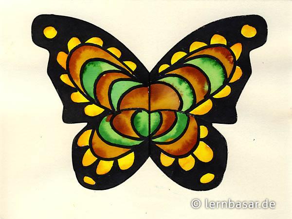 Schmetterling mit Wasserfarben gestalten - ganz einfach - Startpunkt DE