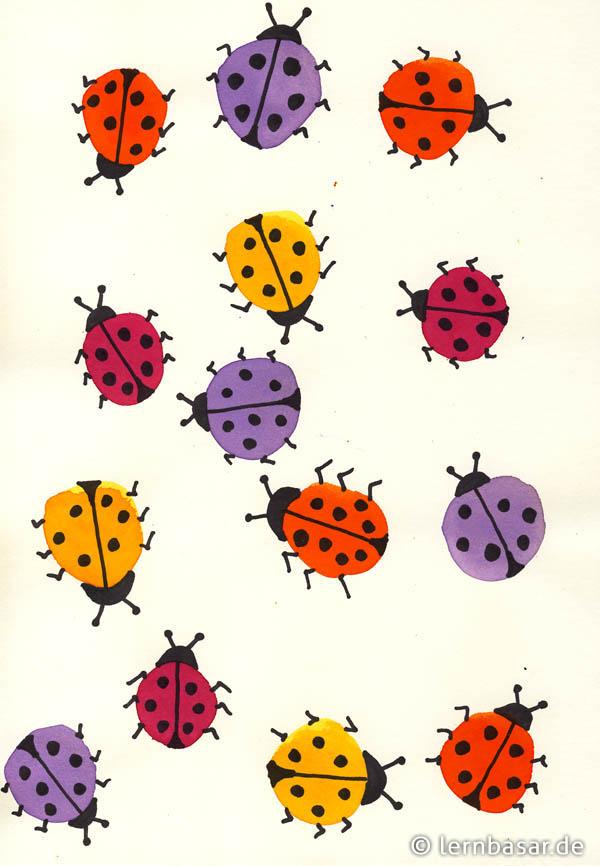 Marienkäfer Ein Spaß Beim Zeichnen Weil Es Schnell Geht