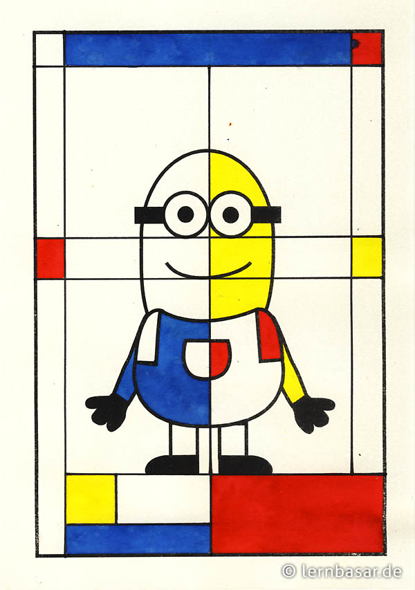 minions a la piet mondrian startpunkt de. Black Bedroom Furniture Sets. Home Design Ideas