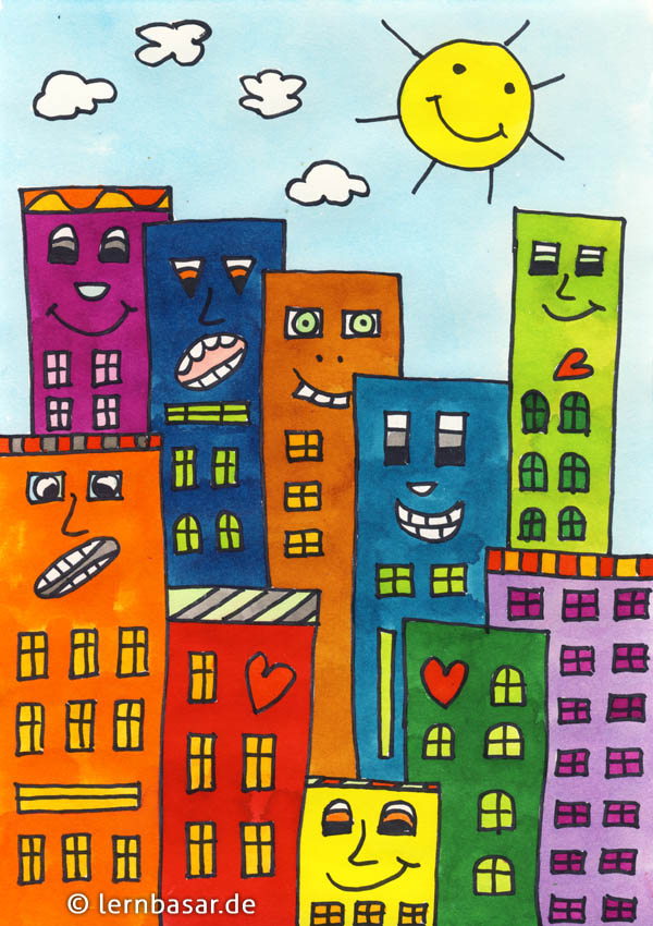 Skyline a la James Rizzi
