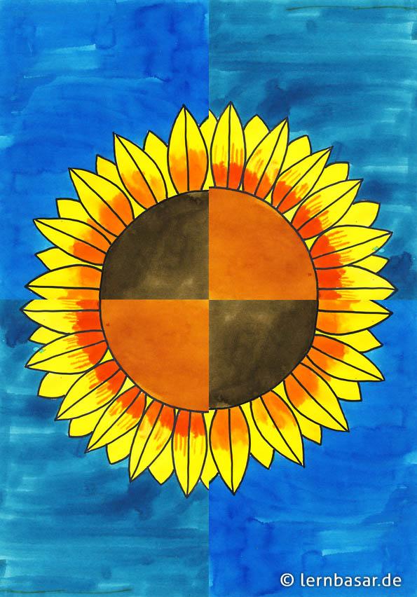 sonnenblume malen grundschule