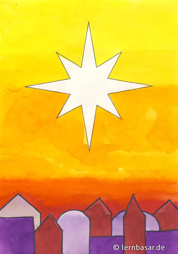 Basteln Stern Von Bethlehem Sterne Basteln