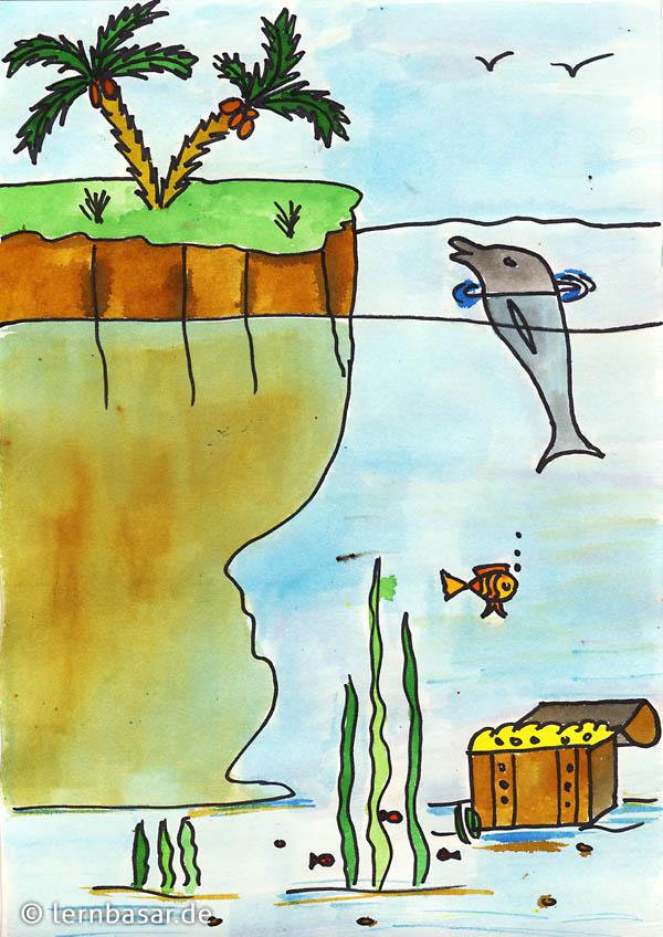 unterwasserwelt malen vorlagen  blume malen