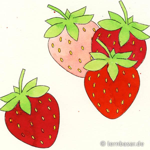 erdbeeren bilder zum ausmalen