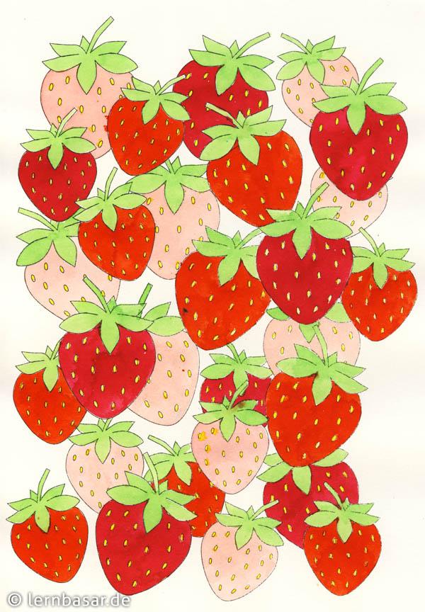 Malen Nach Zahlen Erdbeere Kostenlose Ausmalbilder 10