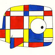 Wal a la Piet Mondrian