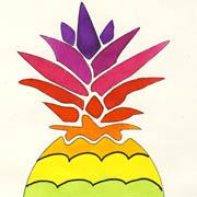 Regenbogen-Ananas