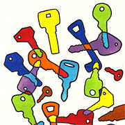 Bunte Schlüssel