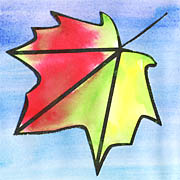 Der Herbst Kommt Zeit Mit Wasserfarben Ein Tolles Bild Zu Malen