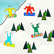 Keith Haring goes snowboarding