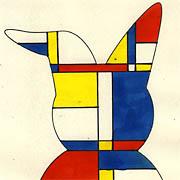 Osterhase a la Mondrian