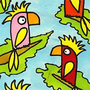Papageien im Urwald