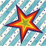 Stern auf Streifen